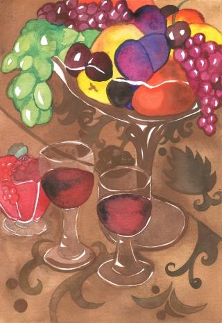 viiniasetelma