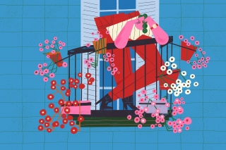 12adult-woman-stay-positive-enjoy-balcony-blooming-colorful-spiritual-freshness-illustration