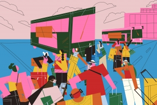 4_diverse-group-passengers-suitcases-handbags-bus-hotel-vacation-holidays-illustration
