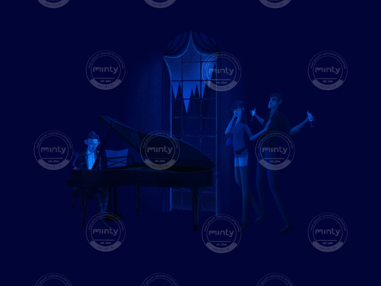 Late night piano party