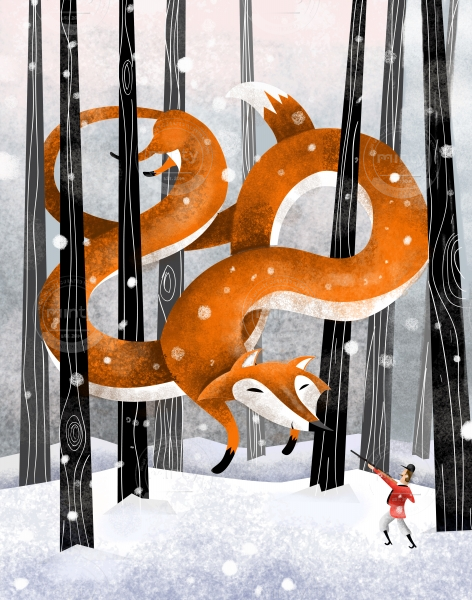 giant fox illustration price minty