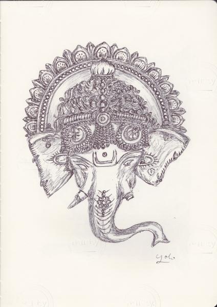 Ballpen Ganesha