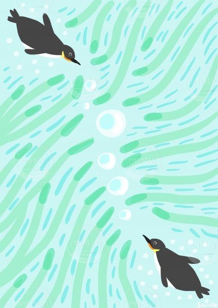 Penguins Under Water