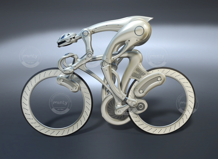 An integrated robot with a super high-performance racing bicycle