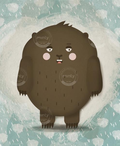 Bear in a snowstorm