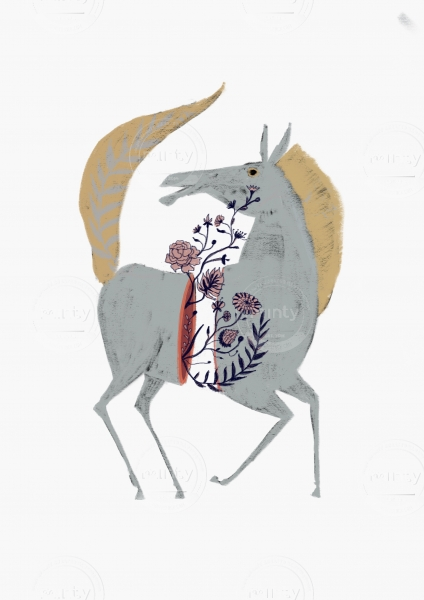 Horse with flowers out of it´s torso