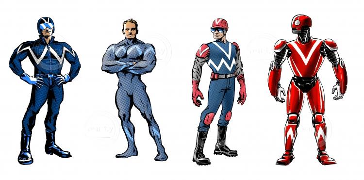 4  hero character concept