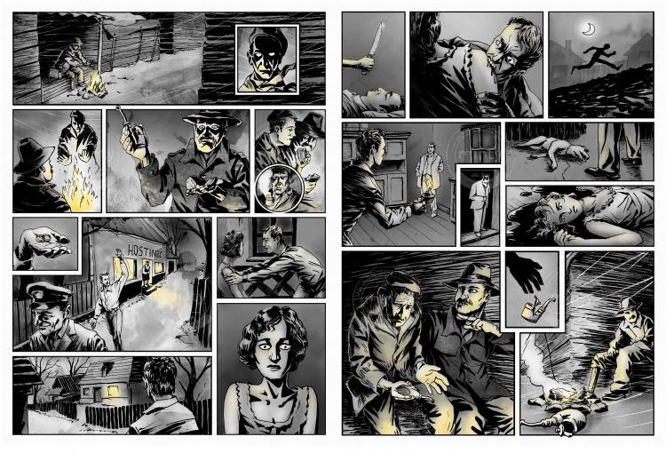 Horror story comics