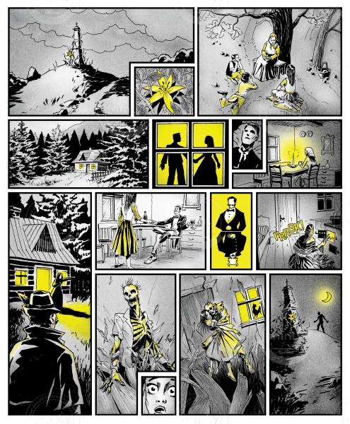 Zombie horror comics