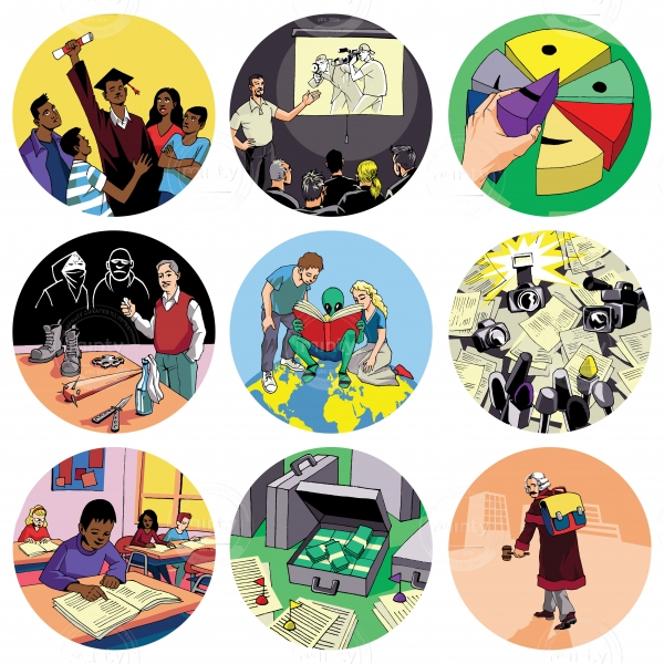Various icons made for Open society foundation