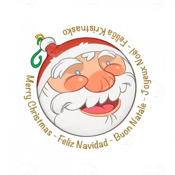 Santa Claus Christmas ball (greetings)