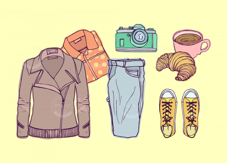 Flatlay outfit essentials