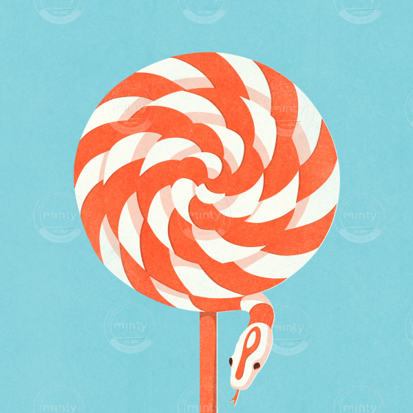 Poisonous candy snake lollipop