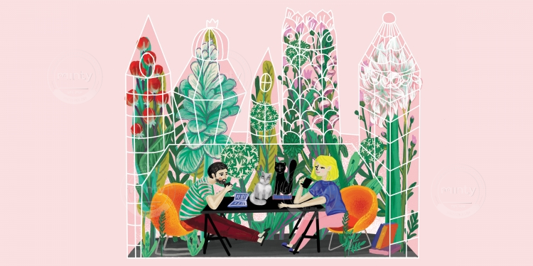 Take a coffee in the botanical garden