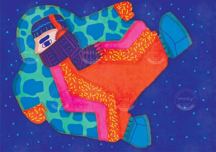 Winter astronaut