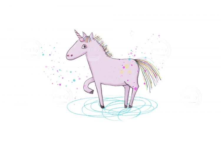 Unicorn who stepped in to the water