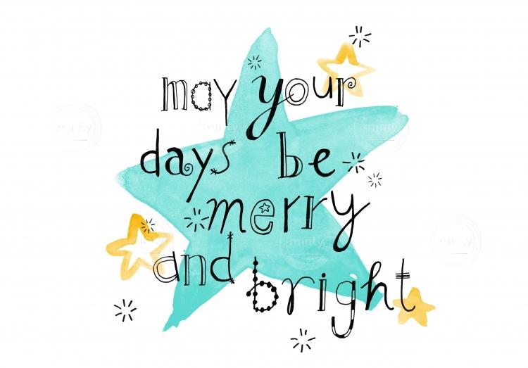 Christmas wish on blue star