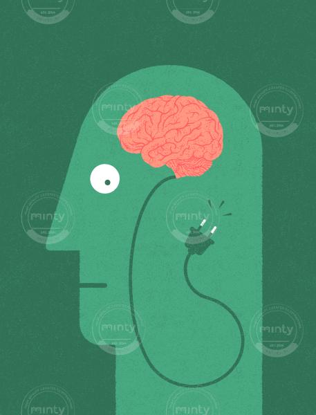 Unplugged brain