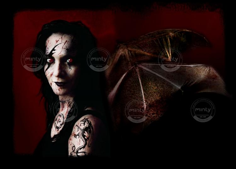Vampire girl with bat wings