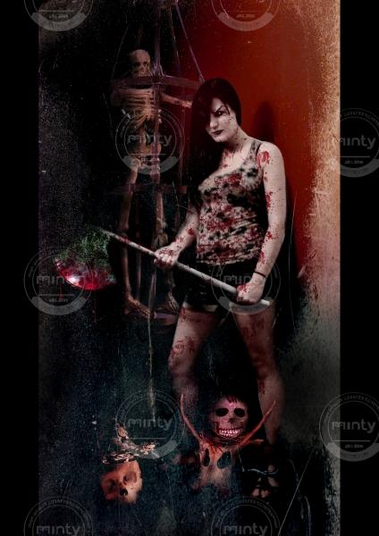 Killer girl with axe