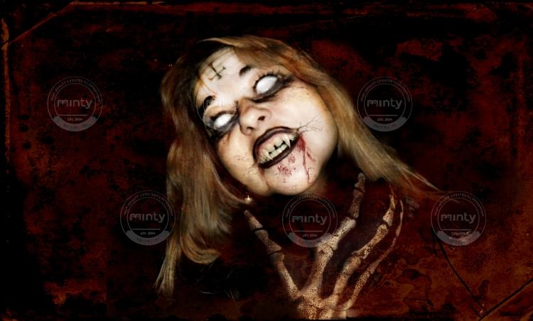 vampire girl with skeleton hand