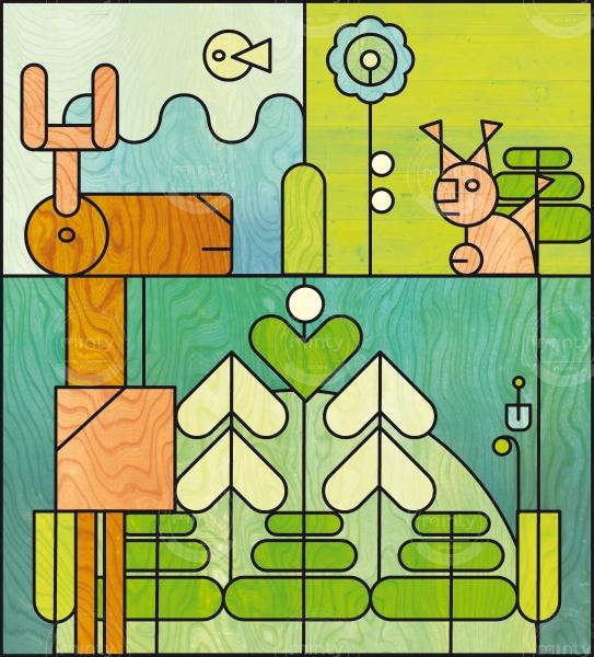 Animals in woods