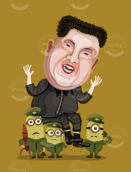 Kim Jong-Un and little minions