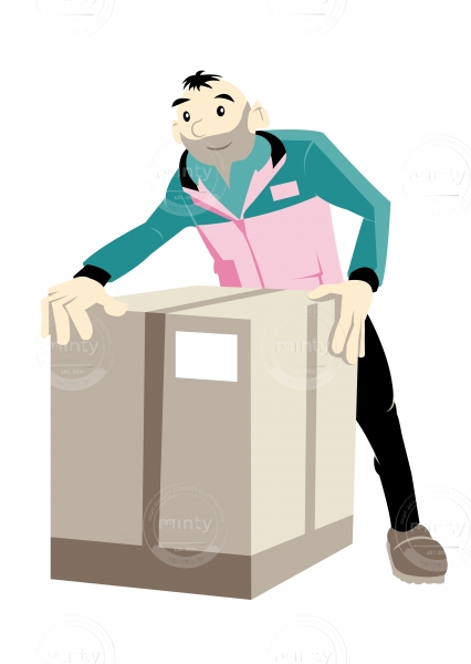 Postguy with a box