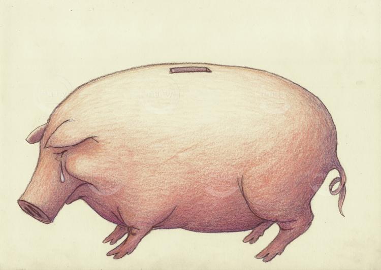 One poor piggy bank II