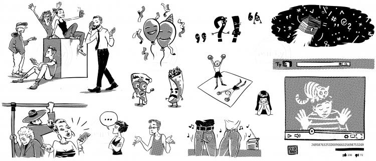 illustrations for slovak grammar book 2