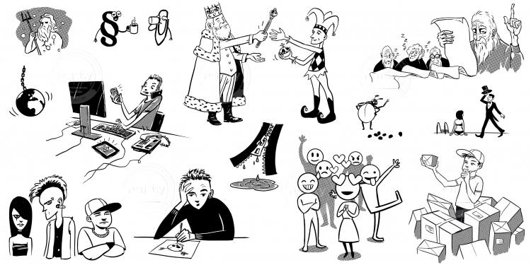 illustrations for slovak grammar book