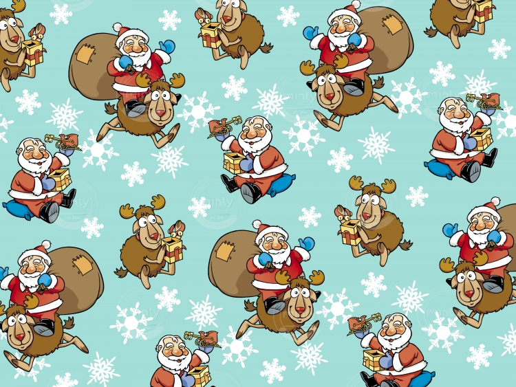 Xmas Pattern (Santa & Rudolph)