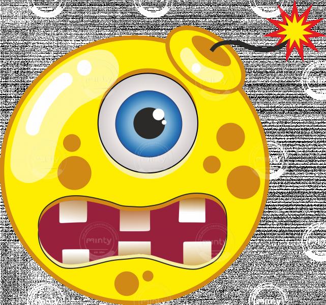 Yellow cartoon bomb