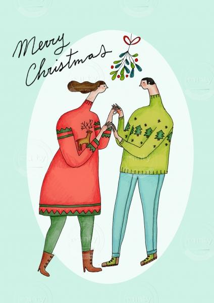 Merry Christmas couple