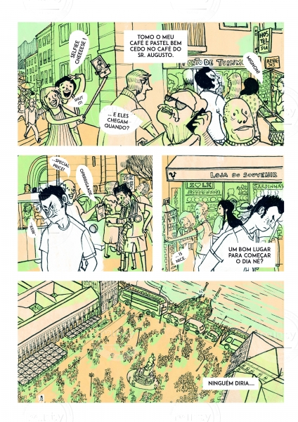 Comic about everyday life in the touristic city of Lisbon.