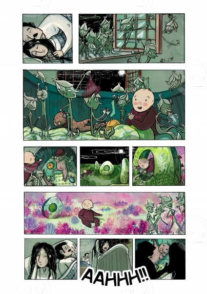 Page from the comic The Hole in the Stone.