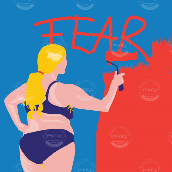 Fearless empowered woman