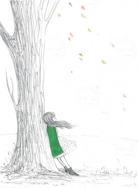 Autumn Akvarel Kresba A3 2016 Illustration Price Minty