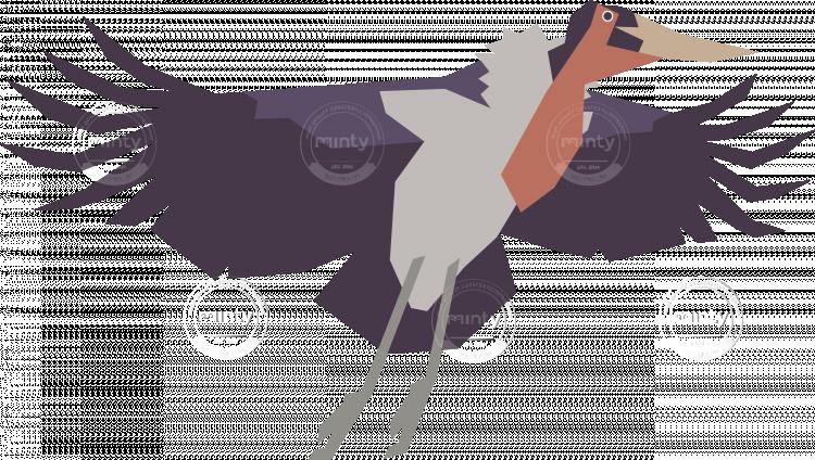 Flying marabou