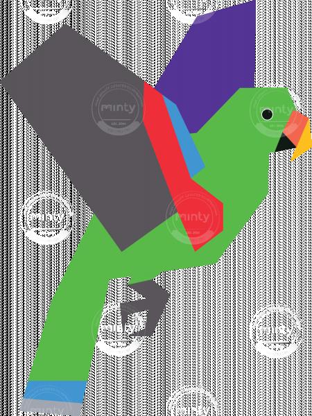 Male Eclectus Parrot Vector Artwork