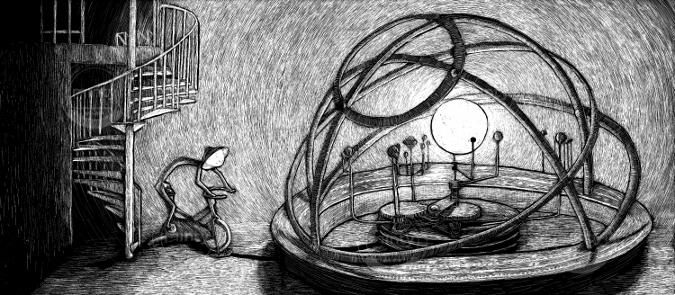 Lantern spins the orrery