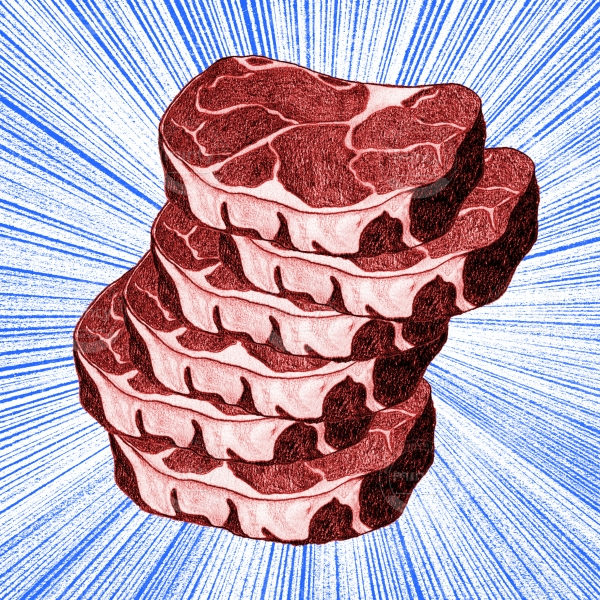 A pile of meat