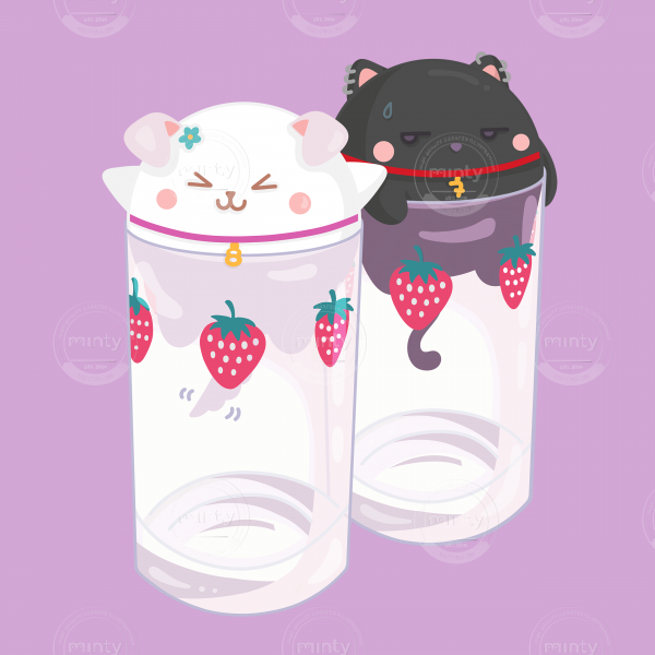 Nani Hachi cute kitties in cups