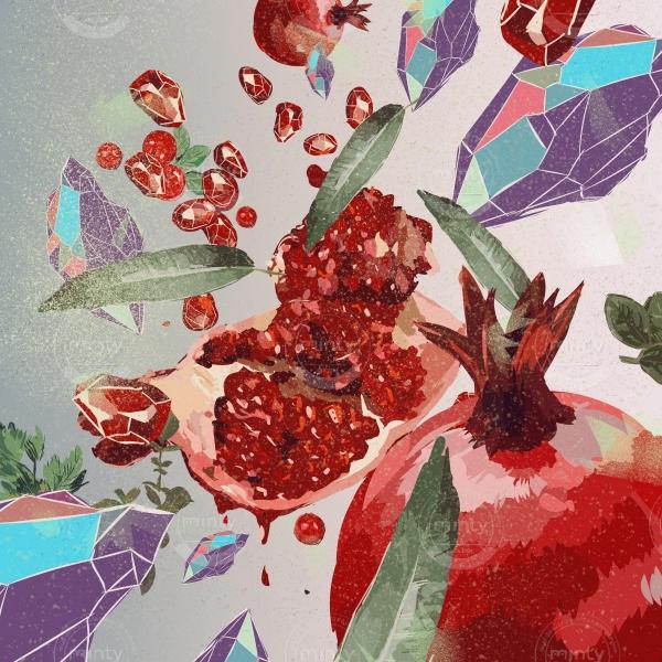 Pomegranate jewel