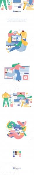 Illustrations for Framelink Site
