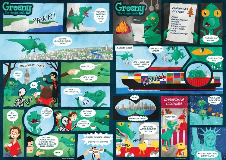 Greeny comics 1-2 (Hello Kids)
