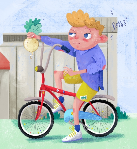 Boy with a sweet beet