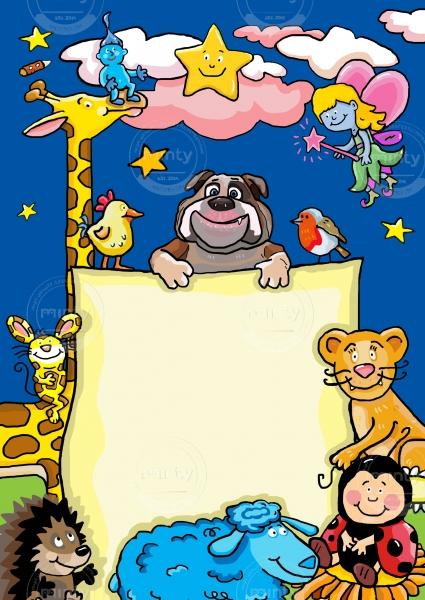 Animals: Dog, Giraffe, Hedgehog and Little Lion for Children