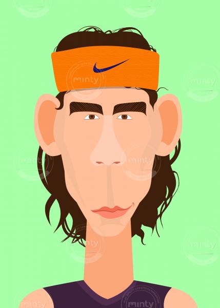 Rafael Nadal, the portrait of tennis player