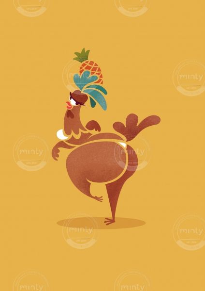Brazilian Chicken cartoon